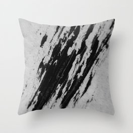 BLACK SNOW Throw Pillow