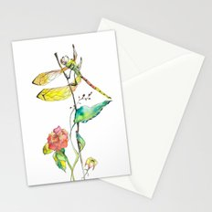 Dragonfly and Flowers Stationery Cards