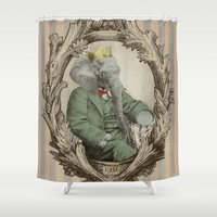 yetiland Shower Curtains featuring Royal Portrait, 1931 by Eric Fan