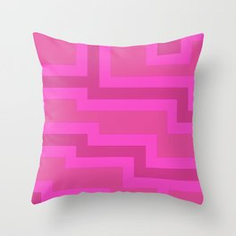 Think Pink Abstract Throw Pillow