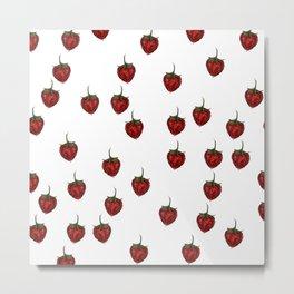 fresh summer strawberries dream Metal Print