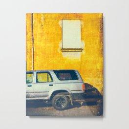 Pickup and yellow wall Metal Print