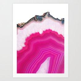 Pink Agate Slice Art Print