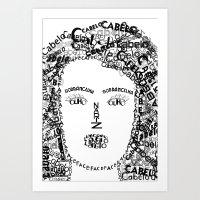 Face_ Nira Art Print