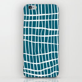 Net White on Blue iPhone Skin