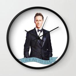 Tom Hiddleston - Flower Crown Wall Clock