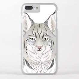 Woodlands lynx Clear iPhone Case