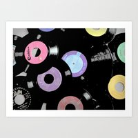 records Art Prints featuring Records by Whitney Retter