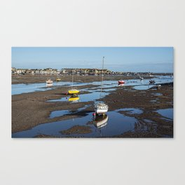 Low Tide at Teignmouth Canvas Print