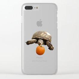 Sulcata Tortoise with Pumpkin Clear iPhone Case