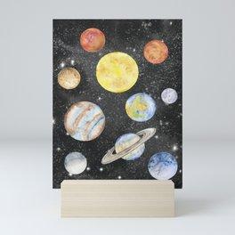 Watercolor Planets Mini Art Print