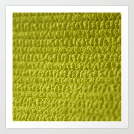 Yellow Bubble Row Textile Photo Art Art Print