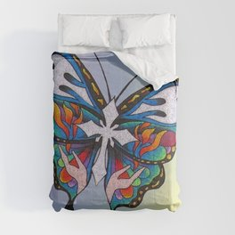 Christianity Themed Butterfly Art Comforters