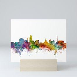 Lansing Michigan Skyline Mini Art Print