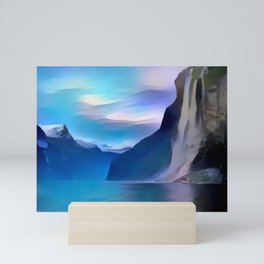 Minimalist Seven Sisters Waterfall Mini Art Print