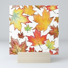 Autumn Maple Leaves Mini Art Print