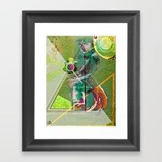 MatChaKure - GreenTea Samurai Framed Art Print