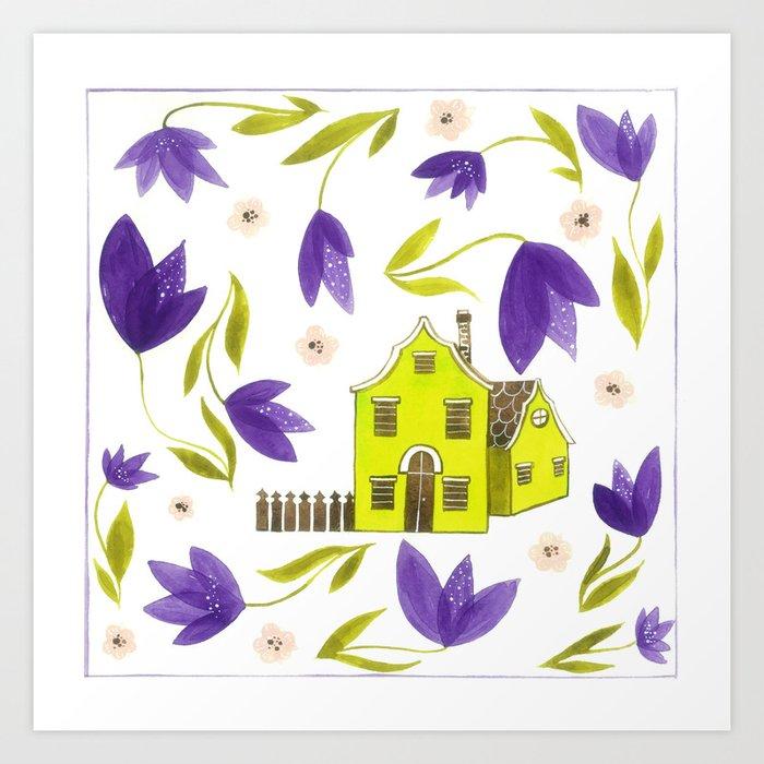 Crocus flowers Art Print