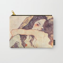 """Egon Schiele """"Two women embracing"""" Carry-All Pouch"""