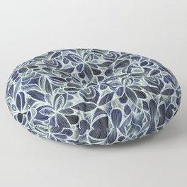 Ballpoint Pattern in Indigo Floor Pillow