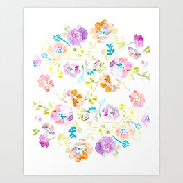 Water Color Floral Art Print