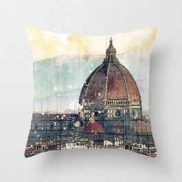 Florence - Cattedrale di Santa Maria del Fiore Throw Pillow