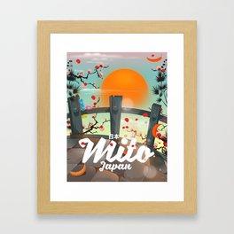 Mito Japan travel poster Framed Art Print