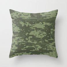 Cyber Camo Throw Pillow