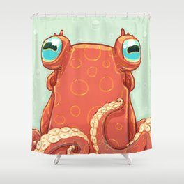 Goldie the Octopus Shower Curtain