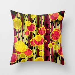 Bubbles and lines Throw Pillow