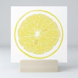 Slice of Lemon Mini Art Print