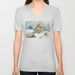 Polar Tea Party Unisex V-Neck