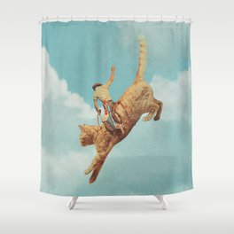 Meehaw - Rodeo Cat Shower Curtain