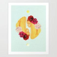 selene and eos Art Print