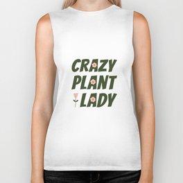 Crazy Plant Lady Biker Tank
