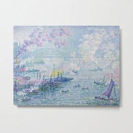 Paul Signac - The Port of Rotterdam Metal Print