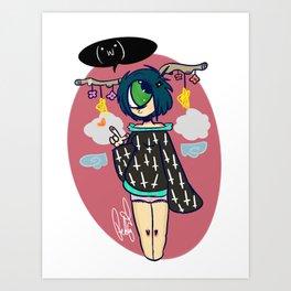 little miss magic Art Print