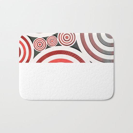 Drop Close/Red Bath Mat