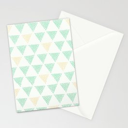Dotted Triangle Print Stationery Cards