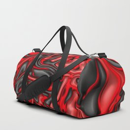 Funky Melted black and red Duffle Bag