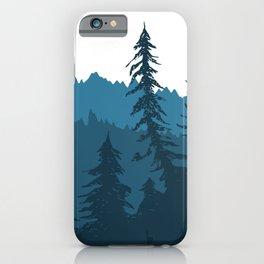 Tree Gradient Blue iPhone Case