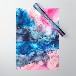 Soul Explosion- vibrant abstract fluid art painting Wrapping Paper