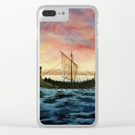 Drakkar, watercolor Clear iPhone Case