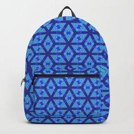 Sharp Blue Petals Backpack