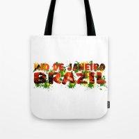 rio de janeiro Tote Bags featuring Rio de Janeiro by J. Ekstrom