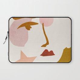 Abstraction_Minimalist_Face Laptop Sleeve