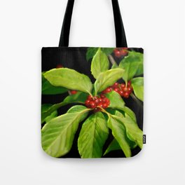Pretty Little Red Berries Tote Bag