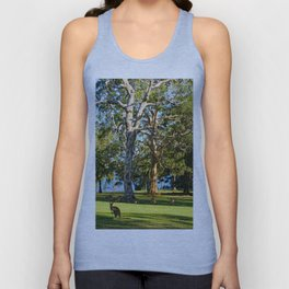 Mob of Eastern Grey Kangaroos Unisex Tank Top
