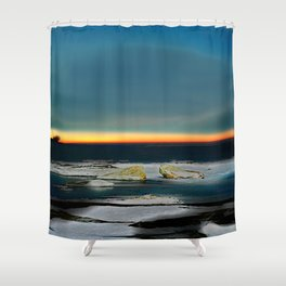 Rising Winter Solstice Shower Curtain