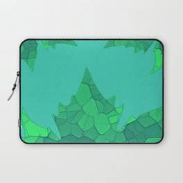 Stained Glass Tiffany style Sycamore leaves on green Laptop Sleeve